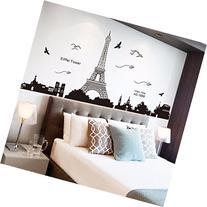 Ussore Eiffel Tower Removable Decor Environmentally Mural