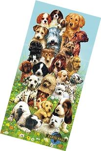 Vibrant Beach or Pool Towel for Adults & Children - Dog