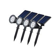 VicTsing 4 Pack Solar Spotlights,2-in-1 Waterproof