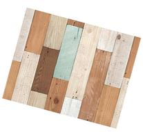Vintage Colorful Wood Panel Pattern Contact Paper Self-