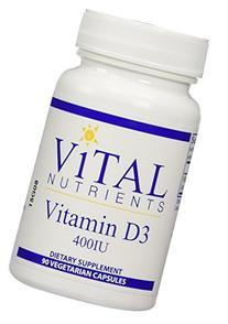 Vital Nutrients - Vitamin D3 400IU 90 vcaps
