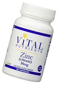 Vital Nutrients - Zinc Citrate 30 mg 90 vcaps