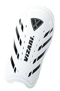 Vizari Attiva Slip In Shin Guard, White/Black, Junior