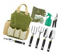 Vremi 9 Piece Garden Tool Set with Gardening Tote and Work