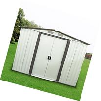 WALCUT Steel Garden Storage Tool Shed 6 by 8 Feet with