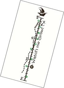 Wall Decor Plus More WDPM3052 Nautical Growth Chart Kids