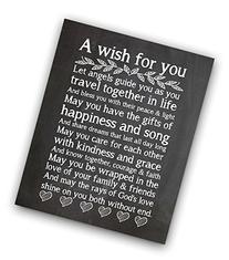 Wedding Chalkboard Print, Wedding Gift, Wedding Blessing