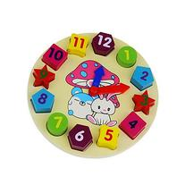 Welecom Wooden Puzzle Shape Sorting Clock