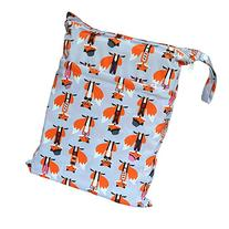 Wet Dry Bag Baby Cloth Diaper Nappy Bag Reusable with Two