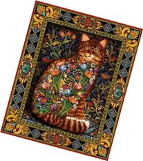 White Mountain Puzzles Tapestry Cat - 1000 Piece Jigsaw
