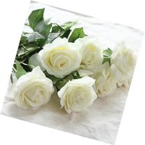 Wholesale Artificial Silk Latex Rose Flowers Wedding Bouquet