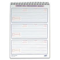 Wholesale CASE of 25 - Tops Spiralbound Message Log Book-