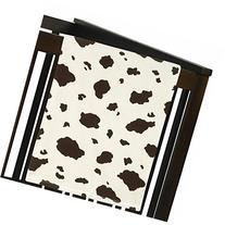 Wild West Cow Print Plush Fleece Throw Receiving Crib Baby