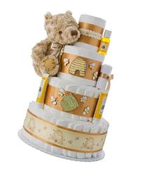 Winnie the Pooh 4 Tier Diaper Cake by Lil Baby Cakes