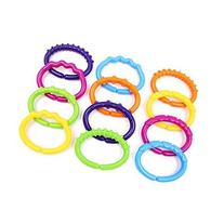 Colorful Baby Links Rings Theether Rattle Infant Strollers