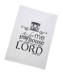 With Christian Blessings Bible Verse Printed Tea Towel,