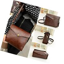 Women Messenger Shoulder Bag DZT1968® Leather Satchel