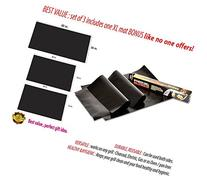Wonder Grill Set of 3 BBQ Grill Mats with 1 XL Grilling