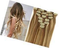 Wonderful 15inch 70g 7pc 12/613#honey bleach blonde Clip In