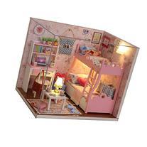 Cuteroom Wood Dollhouse Miniature Kit DIY Doll House Room