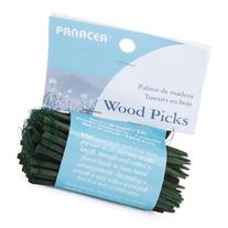 "Wood Floral Picks 3"" 90/Pkg-Green"