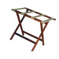 Wooden Mallet Deluxe Straight Leg Luggage Rack, Light Oak,