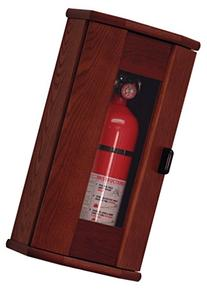 Wooden Mallet Fire Extinguisher Cabinet, 10-Pound, Mahogany/