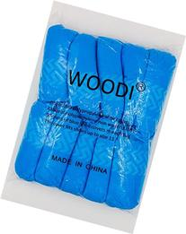 Woodi Disposable Polypropylene Shoe Covers, L, 100-pack