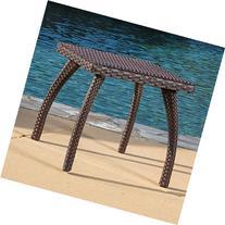 Great Deal Furniture Woodridge Outdoor Brown Wicker Accent