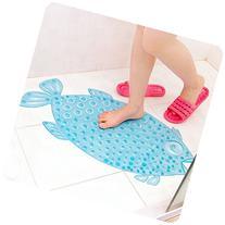 X&W Fish Bathroom Floor Mat Shower with Sucker Non-slip Anti