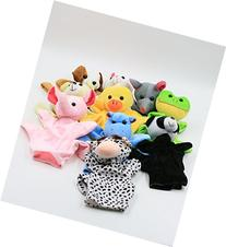 XKX 10Set Cute Animal Hand Puppets Toys for Kids,Lots of fun