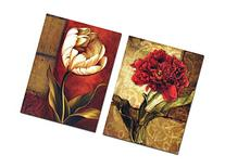 XM Art 2pc Unframed Flower Oil Painting Canvas Wall Art