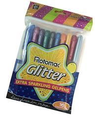 Xtra Sparkle Glitter Gel 10 Colours Rotomac Sparkle GelPens