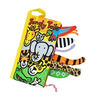 Yoyorule Animal Tails Cloth book Baby Toy Cloth Development