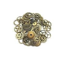 Yueton 100 Gram  Assorted Antique Steampunk Gears Charms