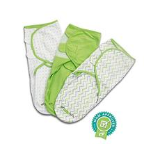 Baby Swaddle Blanket Wrap Set  Green, Grey Chevron, Dot,