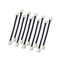 Zitrades 10PCS LED 5050 RGB Strip Light Connector 4