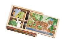 Zoo - 4 x 12pc Jigsaw Puzzle By Melissa & Doug