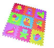 Zoo Puzzle Play Mat 9-tile EVA Foam Rainbow Floor by Poco
