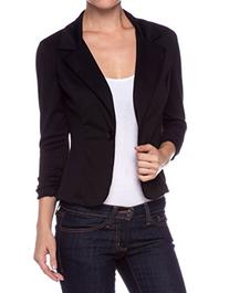 A.S Juniors Casual Three Quarter Sleeve Fitted Blazer-Blkack