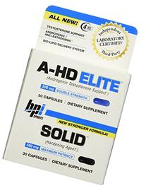 BPI Sports A-HD Elite/Solid Combo 500/550mg Testosterone
