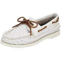 Sperry Top-Sider A/O 2-Eye Loafer - Womens White Wover, 5.5