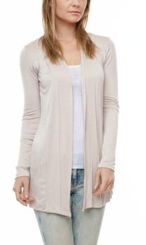 A.S Women's Rayon Jersey Draped Open Front Cardigan