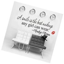 A smile is the best makeup-MARILYN MONROE WALL STICKER PAPER