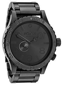 Nixon Men's A057-001 Stainless-Steel Analog Black Dial Watch