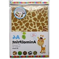 A4 Assorted Animal Print Card - 20 A4 Sheets & 5 Shaped