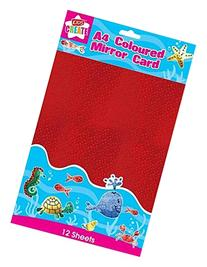 Anker A4 Coloured Mirror Card 12 Sheets