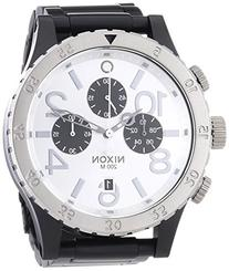 Nixon A486-180 Mens The 48-20 Chrono Black Silver Watch