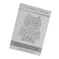 A5 Adult Colouring In Paper, 8 Sheets, Nature & Animals,