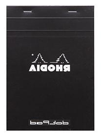 Rhodia No.16 A5 6 x 8 1/4 80 Sheet, Dot Pad, Black